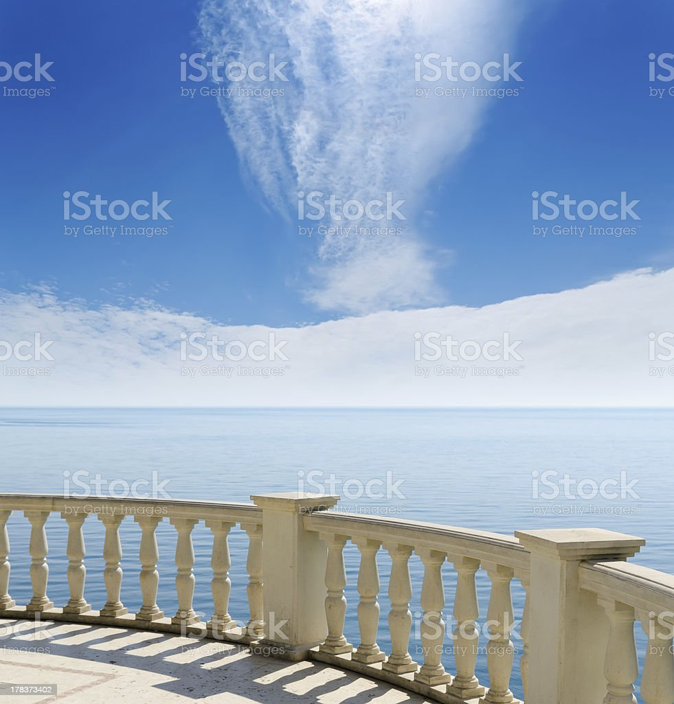view to sea from a balcony royalty-free stock photo
