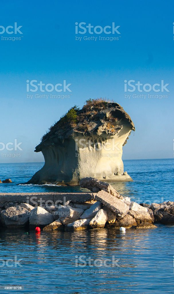 View to sea from Casamicciola Terme, Ischia, Italy stock photo