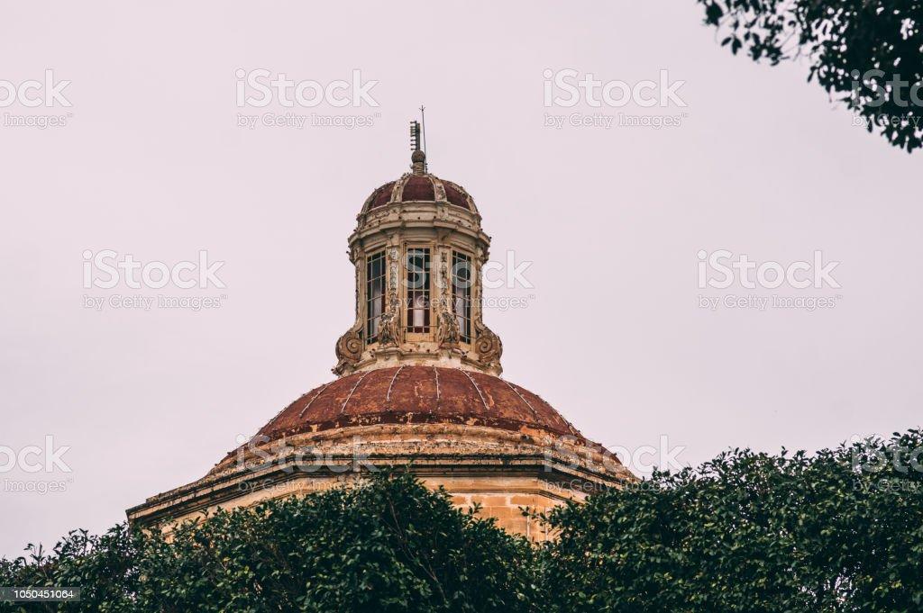 View to St. Lawrence's Church in Birgu, Malta stock photo