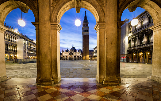 View to St. Mark`s Square in Venice, Italy