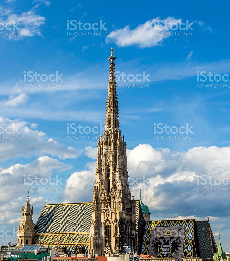 view to St. Stephen's Cathedral in vienna stock photo