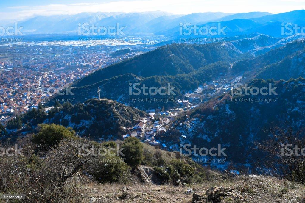 View to Strumica (Strumitsa) town in Macedonia royalty-free stock photo