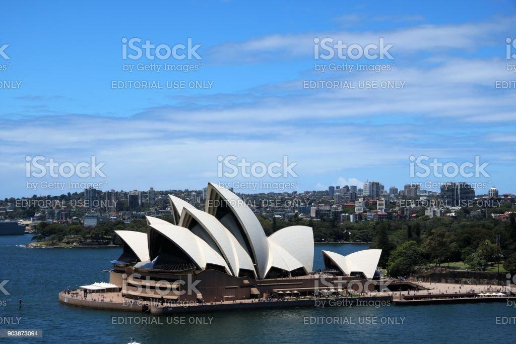 View to Sydney Opera House, New South Wales Australia stock photo