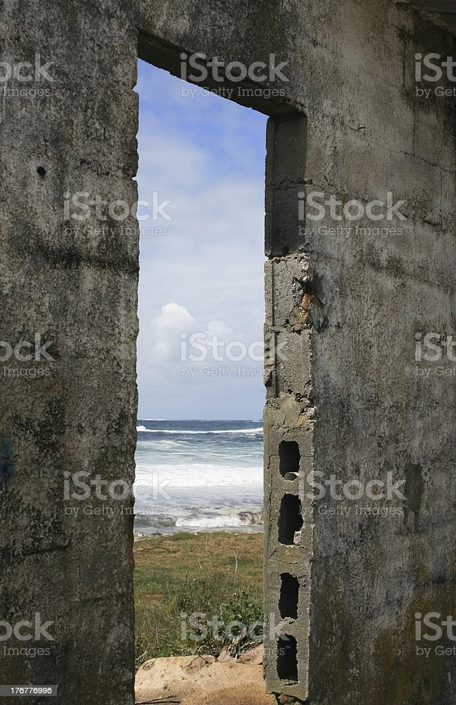 view to the atlantic ocean royalty-free stock photo