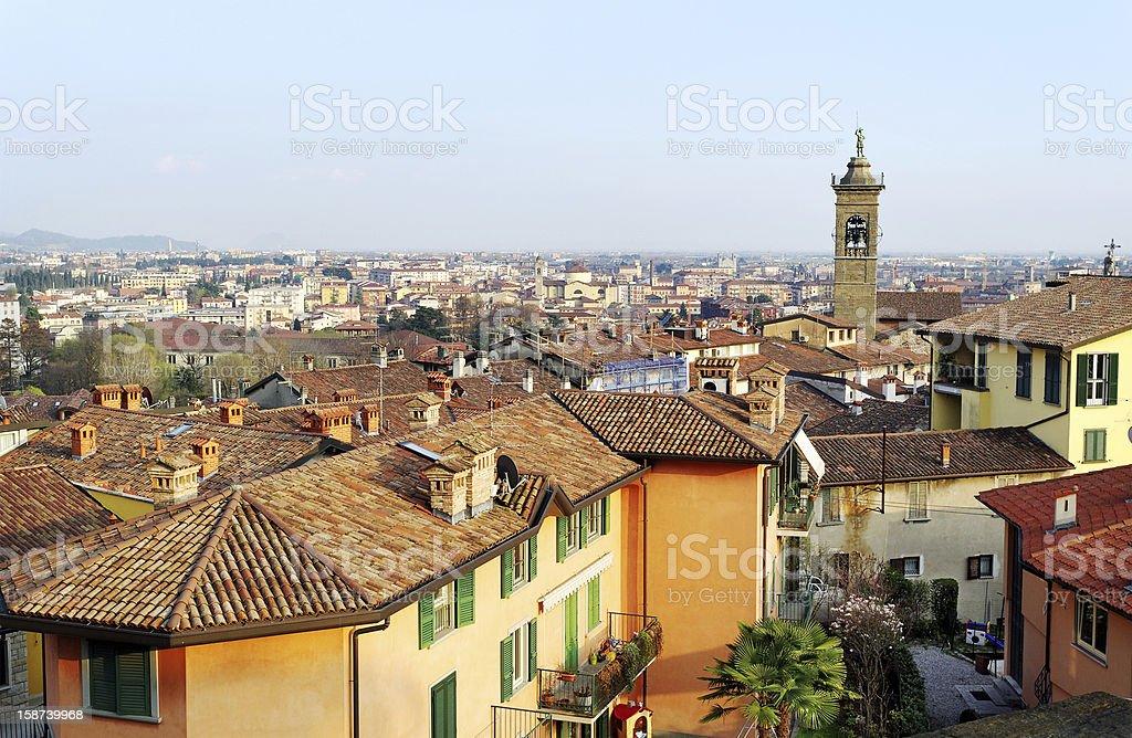 View to the Bergamo. royalty-free stock photo
