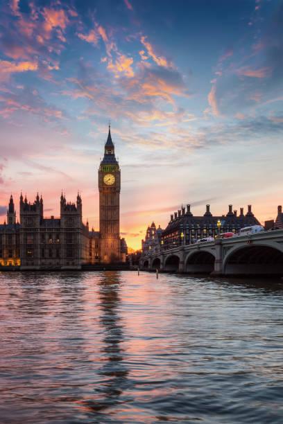 Blick auf den Big Ben Uhrturm in London, Großbritannien – Foto