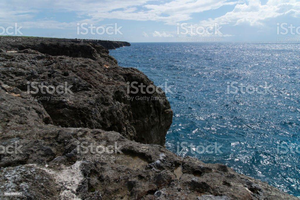 View to the Cape Takanazaki, Hateruma-jima (Yaeyama) royalty-free stock photo