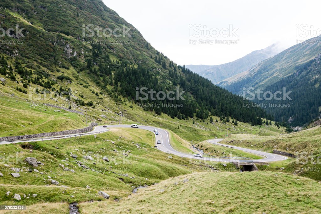 View to the carpathian mountains war road transfagarasan royalty-free stock photo