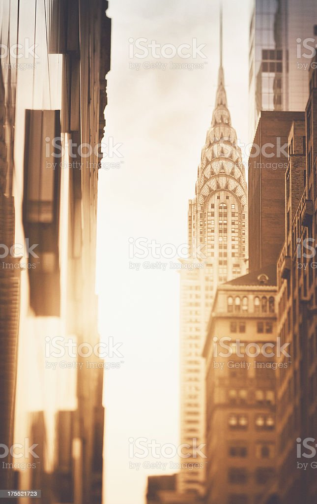 View to the Chrysler building New York City royalty-free stock photo