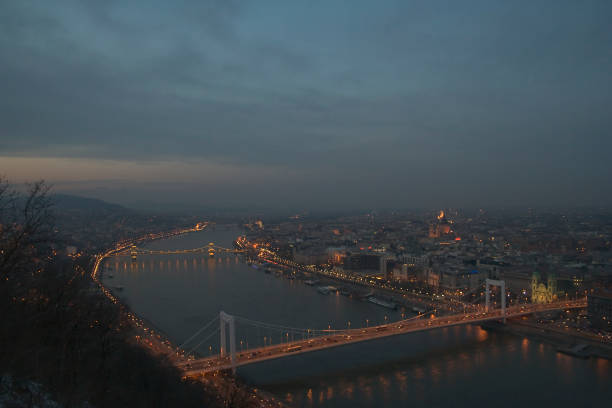 A view to the city in Budapest, Hungary stock photo