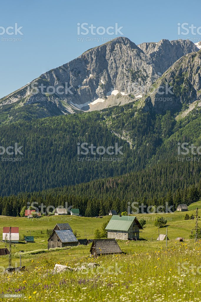View to the Durmitor stock photo