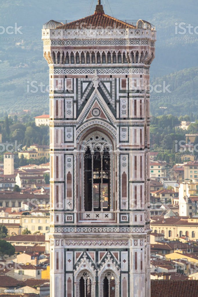 View to the Giotto's tower in Florence, Tuscany, Italy 免版稅 stock photo