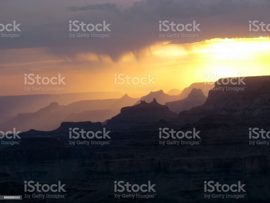 view to the grand canyon from Yaki point, south rim foto stock royalty-free