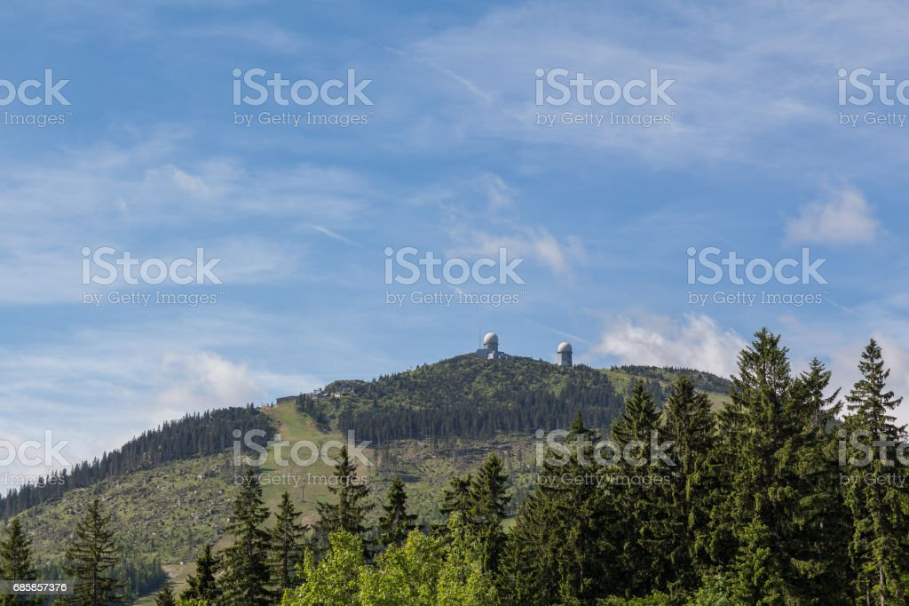 View to the great arber in summer with blue sky stock photo