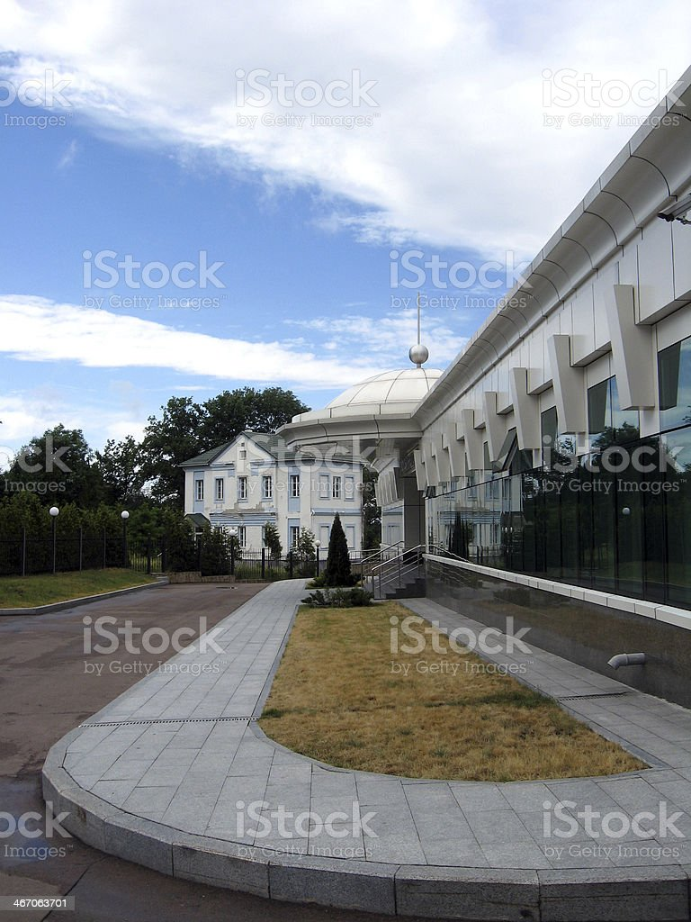 view to the hotel in Novgorod-Severskyi town royalty-free stock photo