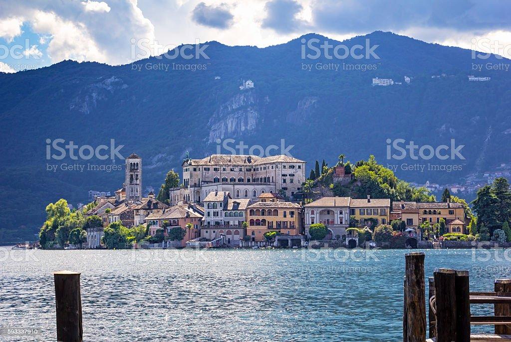 View to the Isola San Giulio, Italy – Foto