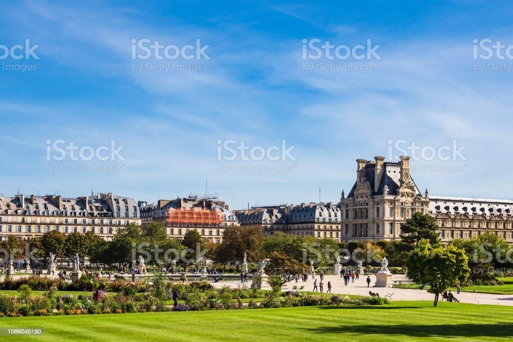 Blick auf den Jardin des Tuileries in Paris, Frankreich – Foto