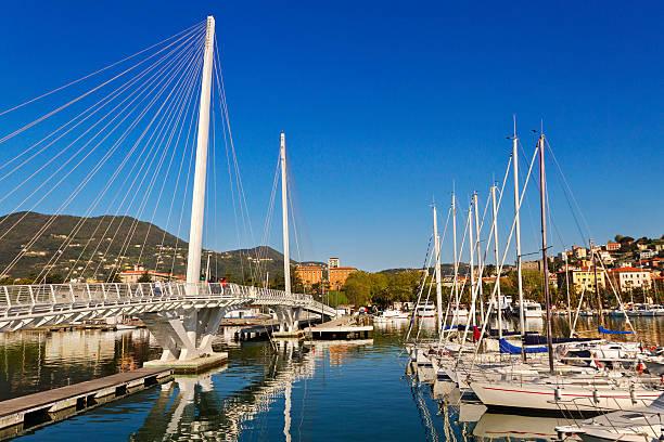 View to the La Spezia. View to the La Spezia, Italy. bascule bridge stock pictures, royalty-free photos & images