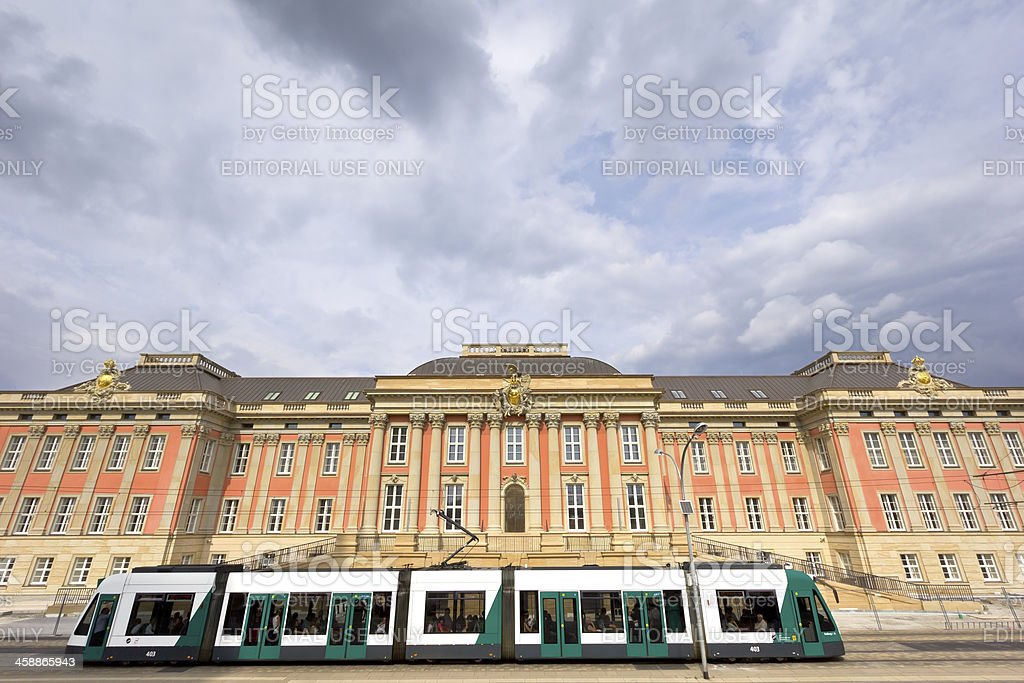View to the new rebuilt Potsdam City Palace stock photo