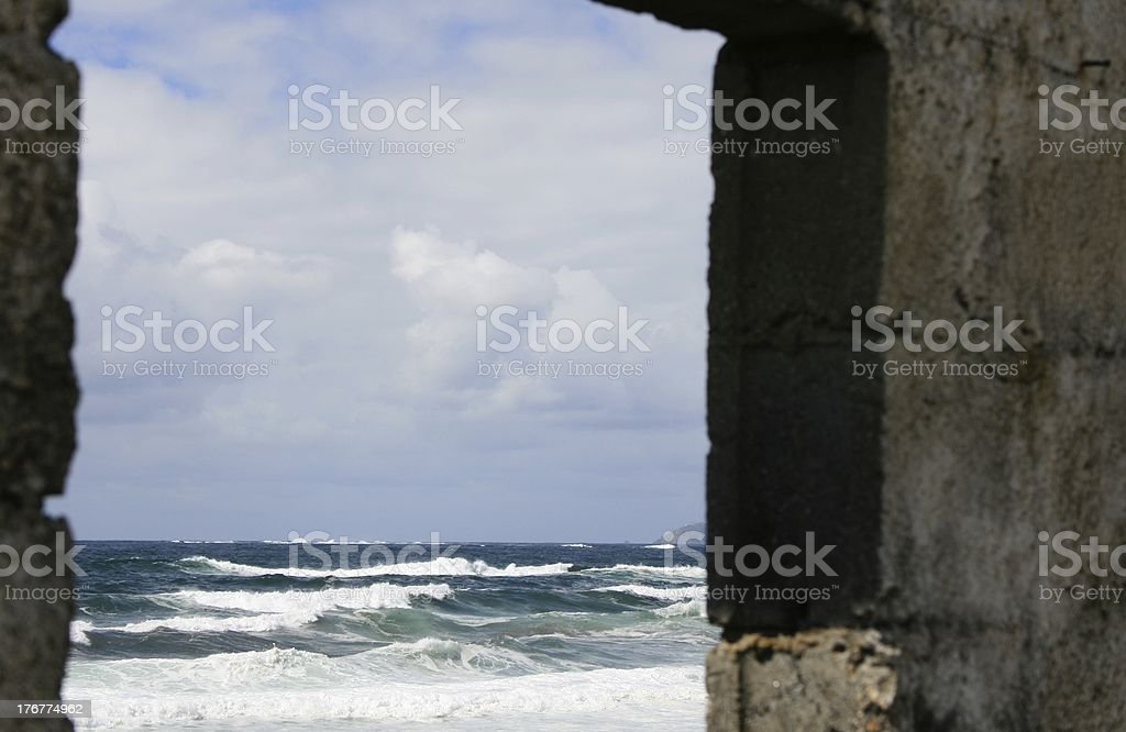 view to the ocean royalty-free stock photo