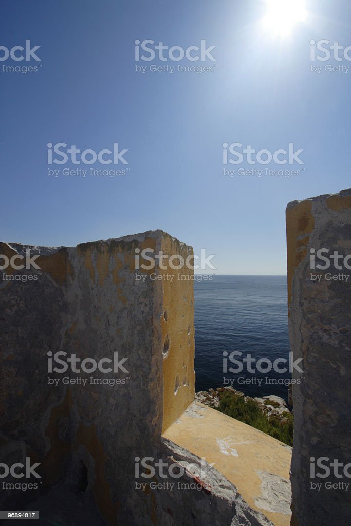 View to the ocean, Portugal/Europe. royalty-free stock photo