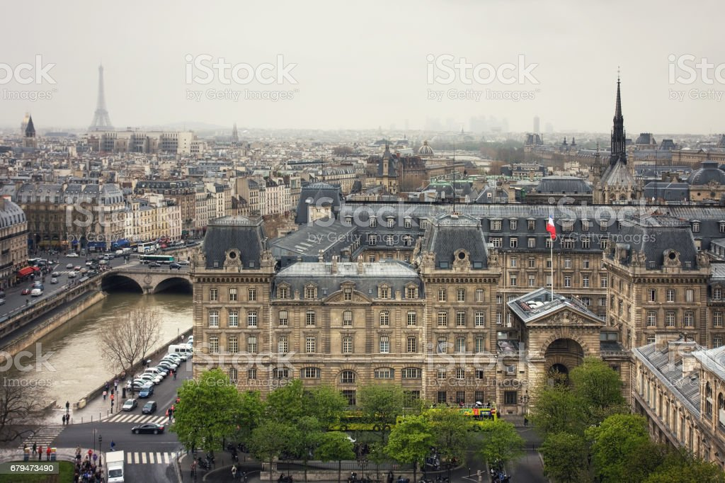 View to the Prefecture de Police of Paris 免版稅 stock photo
