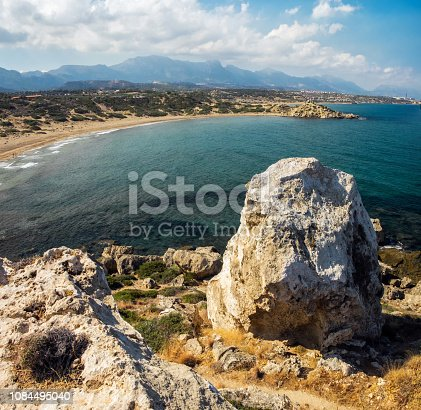 istock View to the sand Alagadi beach from the top of the hill Northern Cyprus 1084495040