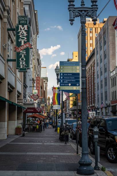 View to the Southeast Down Gay Street stock photo