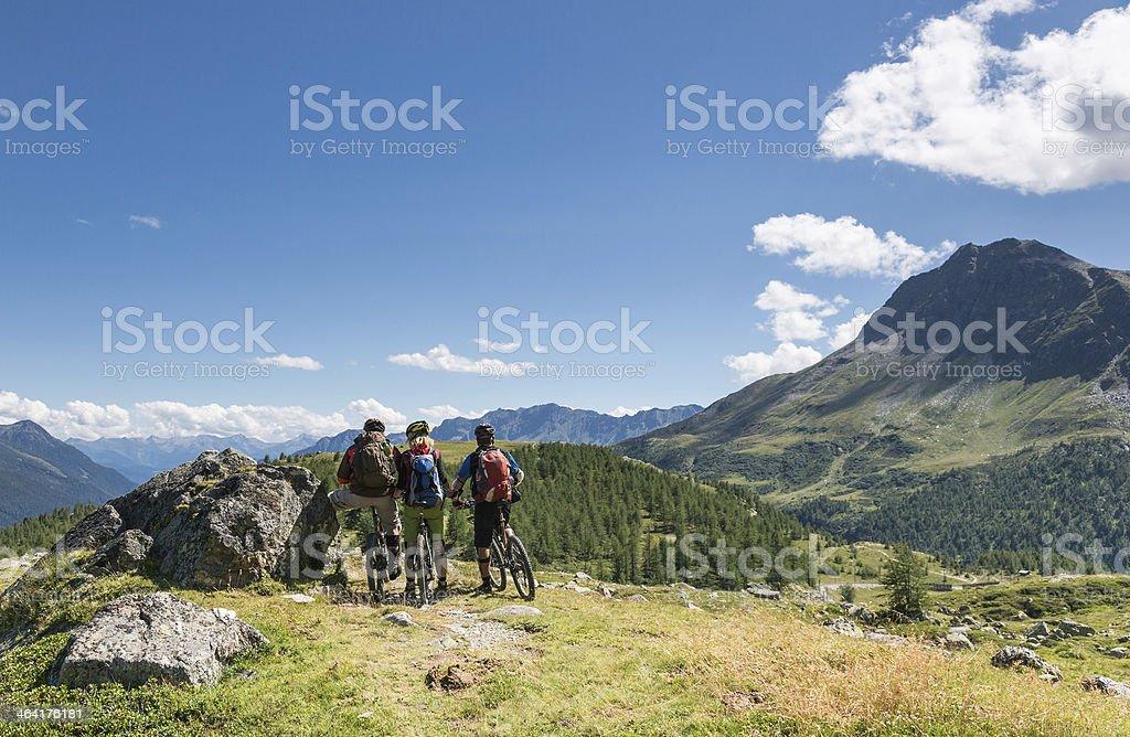 View to Val Poschiavo, Switzerland stock photo