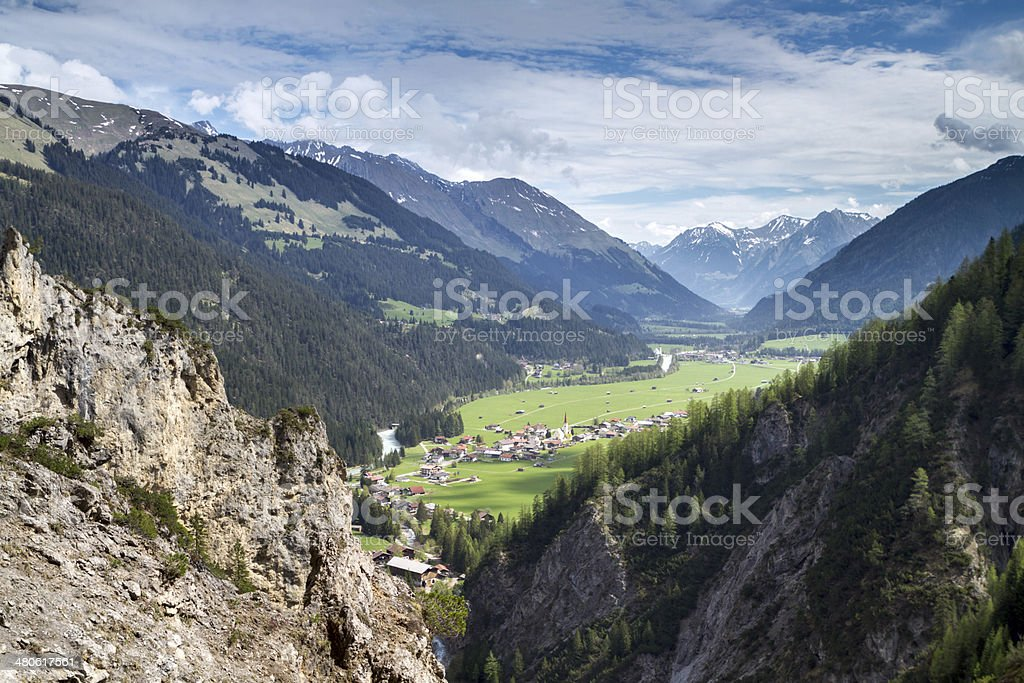 View to village Stockach stock photo