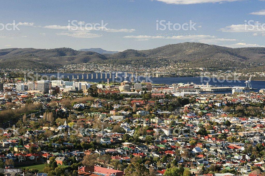 View toward Hobart CBD stock photo