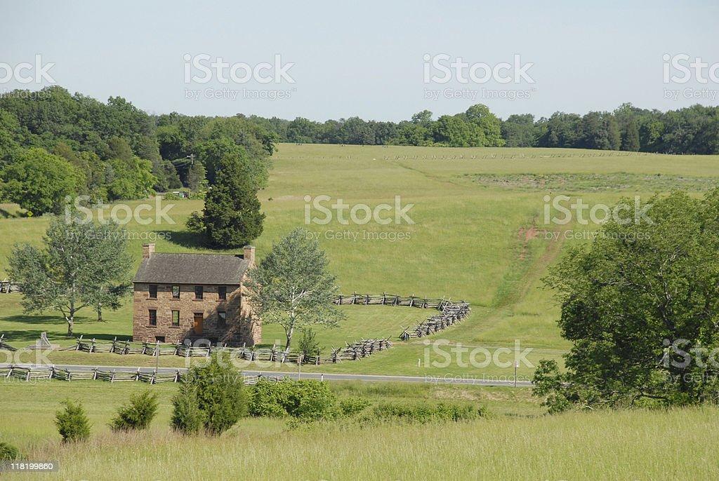 View toward Mathews Hill at Manassas stock photo