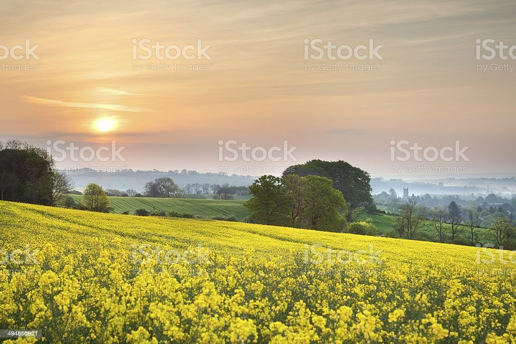 View towards Chipping Campden stock photo