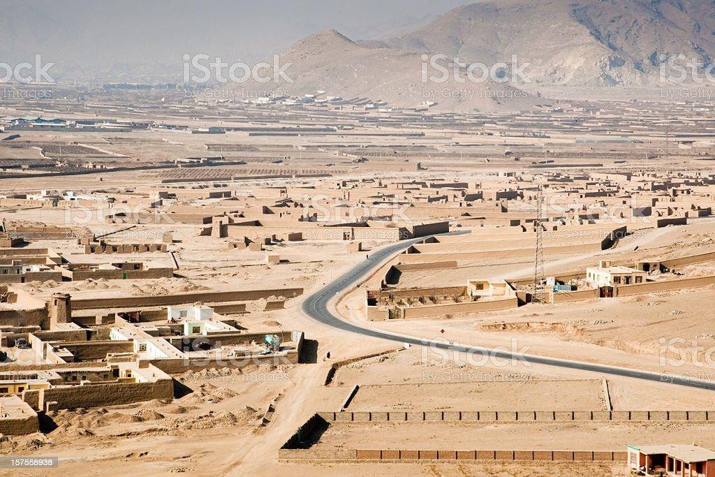 View towards Kabul stock photo