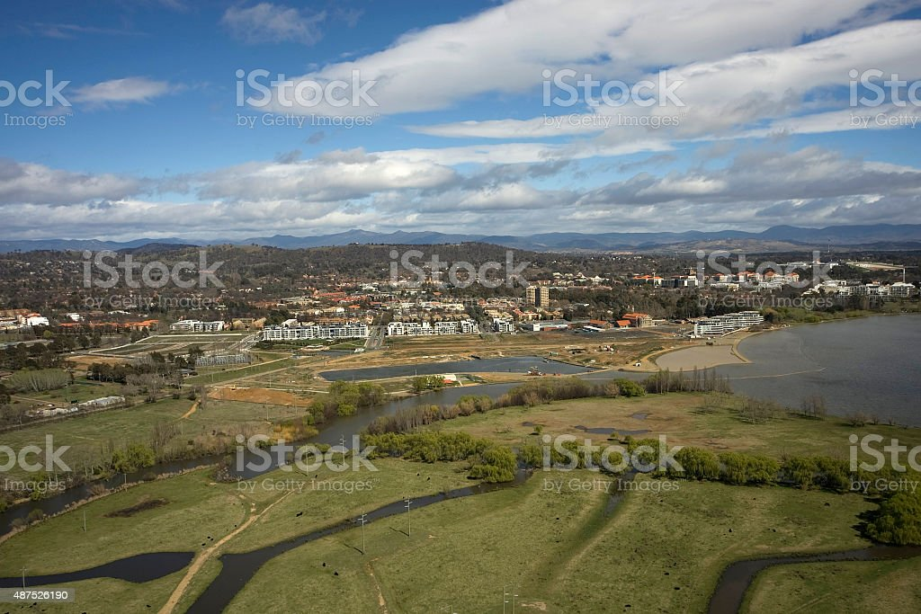 View towards Kingston Foreshore stock photo