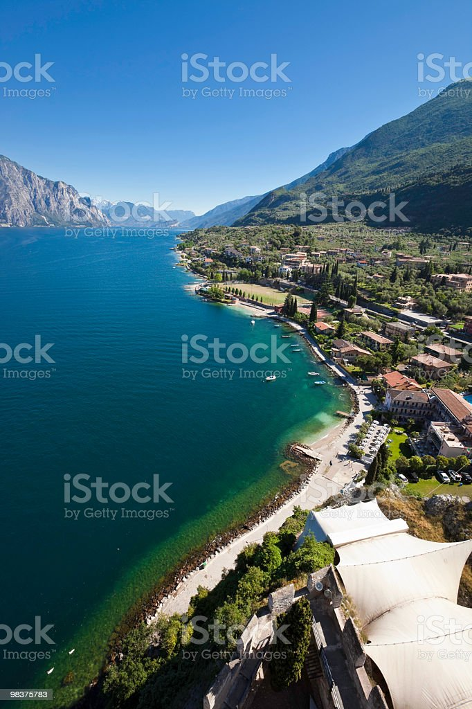 View towards the northern side of Lake Garda royalty-free stock photo