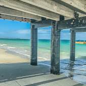 View from under the Jetty at Coogee beach Australia