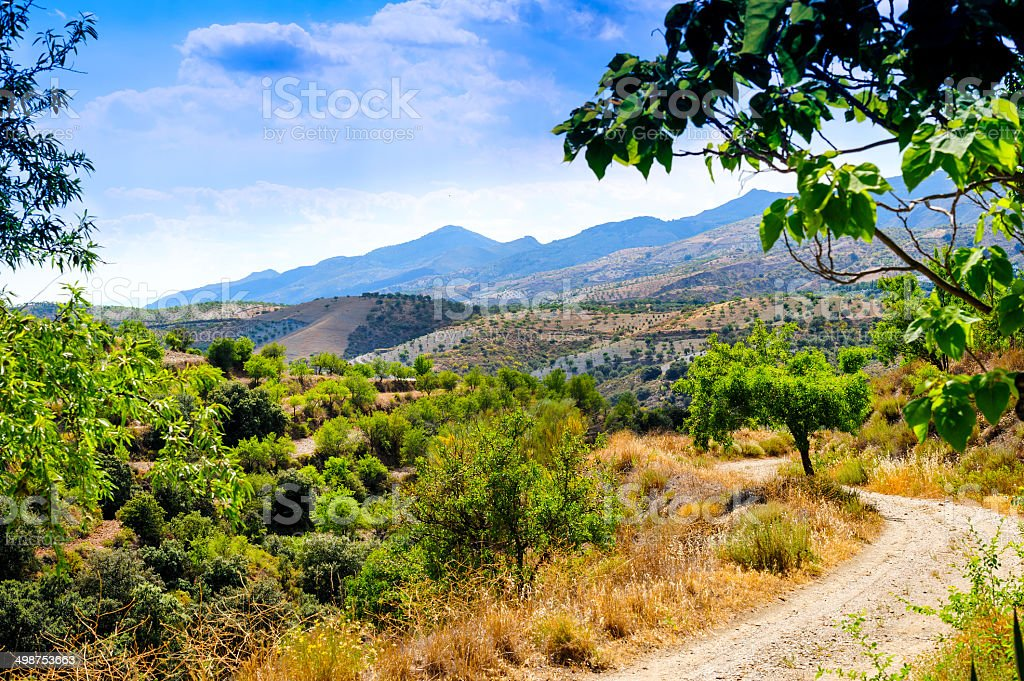 View west from Cadiar Village stock photo