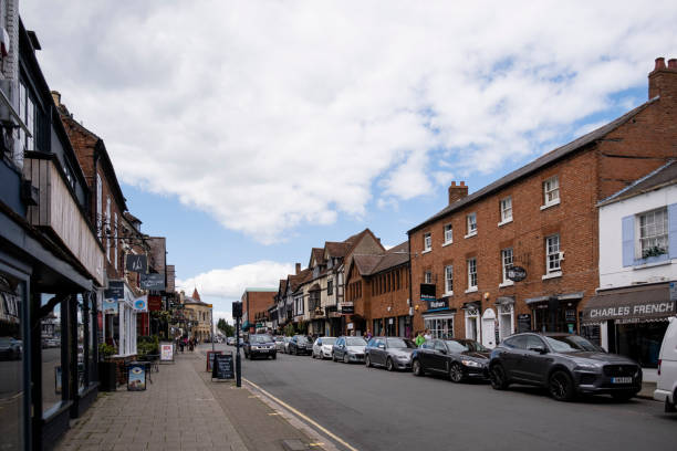 View West Up Sheep Street - Stratford-upon-Avon stock photo