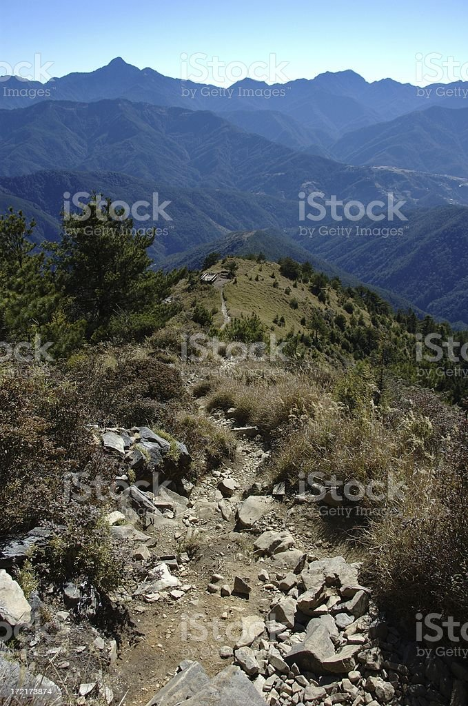 View while descending Syue Shan (Taiwan Central Mountain Range) stock photo