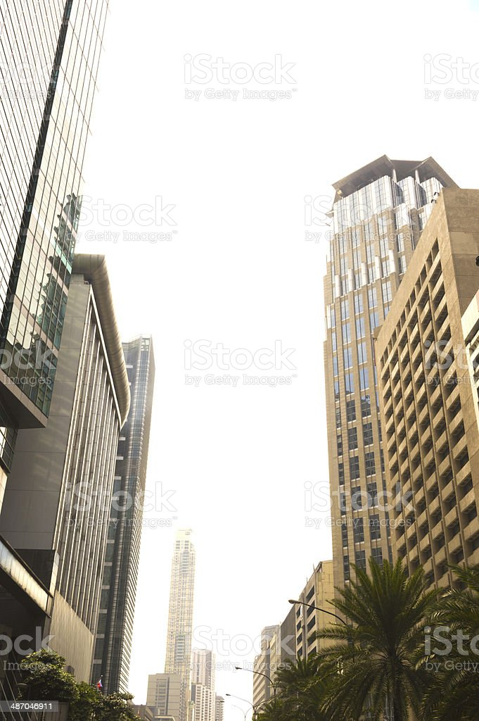 View with the tall buildings in Makati royalty-free stock photo