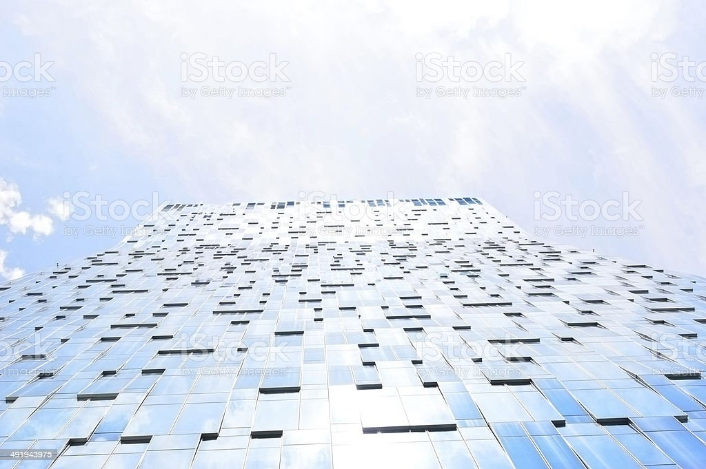 view with the tall buildings, Seoul stock photo