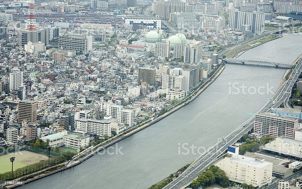 Viewed from a high angle. royalty-free stock photo