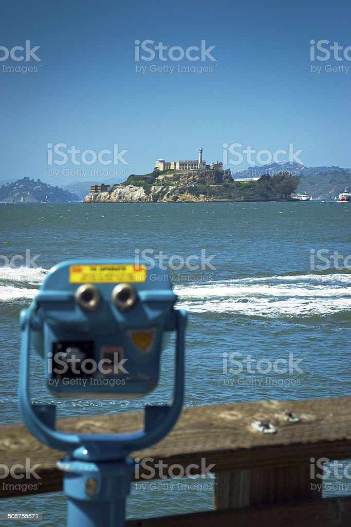 Viewer for Alcatraz royalty-free stock photo