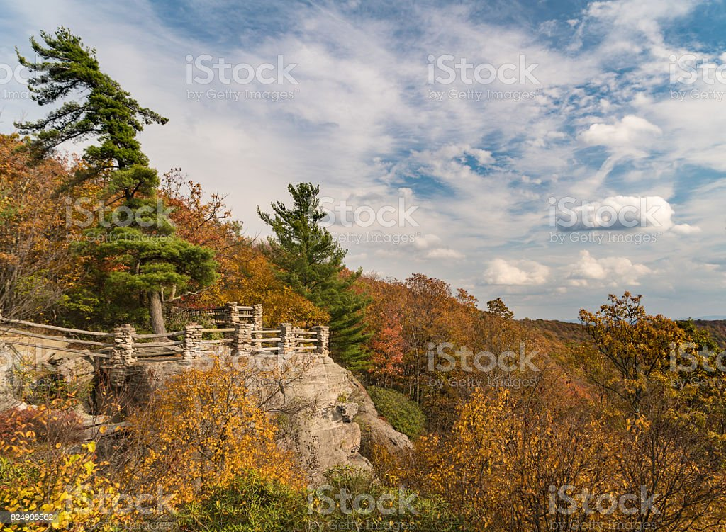 Viewing platform at Coopers Rock State Forest WV stock photo