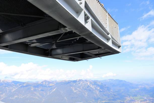 Viewing platform at the mountain station Alpspitze Viewing platform at the mountain station Alpspitze, Garmische-Partenkirchen, Germany alpspix stock pictures, royalty-free photos & images