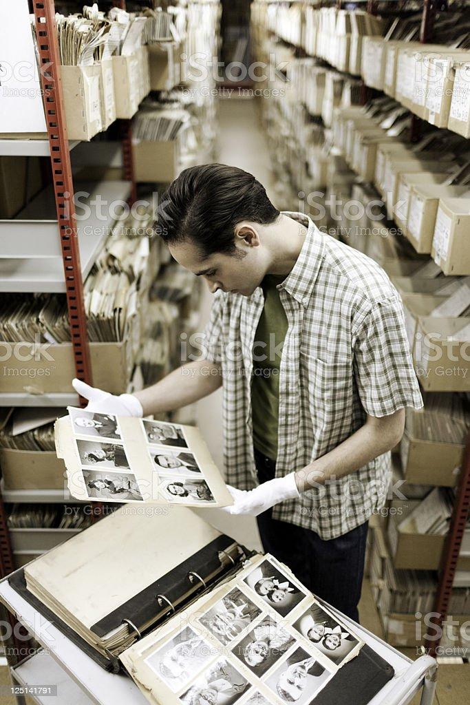 Viewing portaits. stock photo