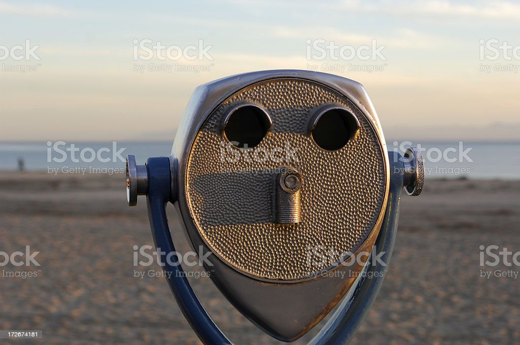 Viewing Scope on the Beach royalty-free stock photo