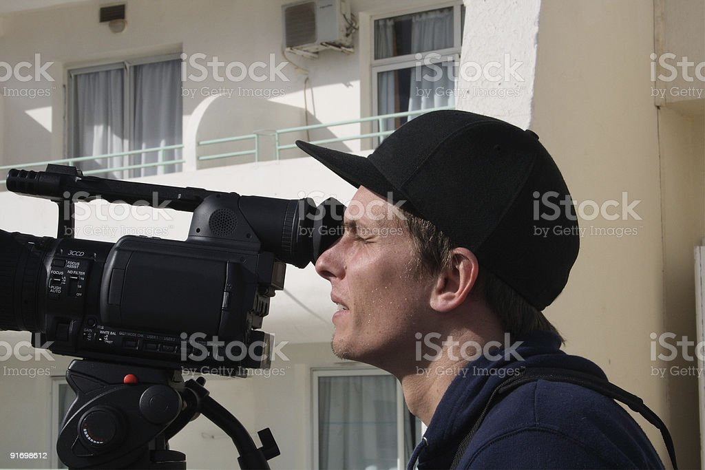 Viewing through video camera royalty-free stock photo