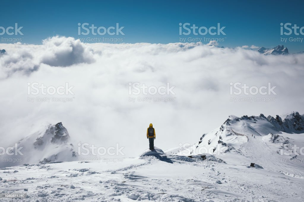Viewpoint Above The Fog stock photo